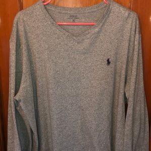 Ralph Lauren v neck long sleeve XL never worn